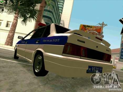 VAZ 2115 polícia para GTA San Andreas vista direita