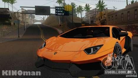 Lamborghini Aventador LP 700-4 para GTA San Andreas traseira esquerda vista