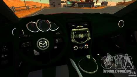 Mazda RX-8 R3 2011 para GTA 4 vista de volta