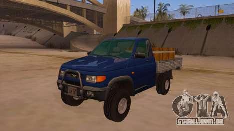 UAZ-2360 para GTA San Andreas vista inferior