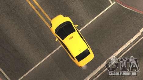 Fiat Linea Taxi para GTA San Andreas vista traseira