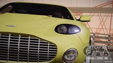 Aston Martin DB7 Zagato 2003 para GTA San Andreas vista superior