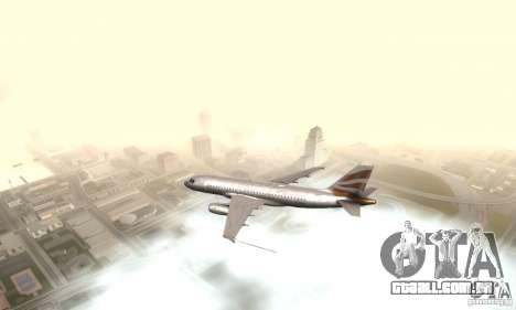 Airbus A319 British Airways Olympic Dove para GTA San Andreas esquerda vista