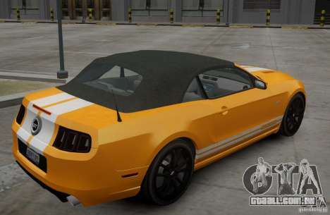 Ford Mustang GT Convertible 2013 para GTA 4 vista direita