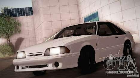 Ford Mustang SVT Cobra 1993 para GTA San Andreas vista superior