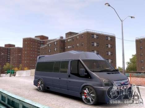 Ford Transit Sport Edition RV 2013 para GTA 4 traseira esquerda vista
