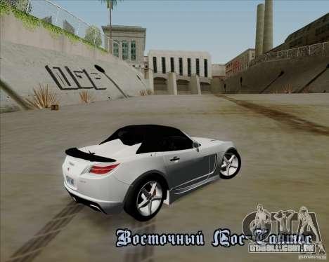 Saturn Sky Red Line 2007 v1.0 para GTA San Andreas traseira esquerda vista