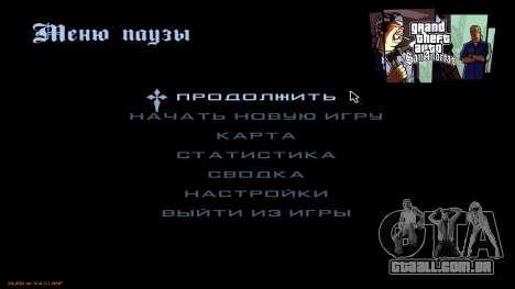 Novo menu de CatVitalio para GTA San Andreas segunda tela