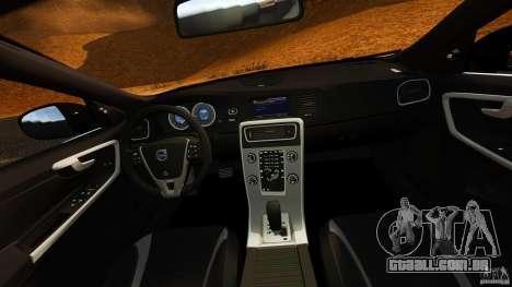 Volvo S60 Sheriff para GTA 4 vista de volta