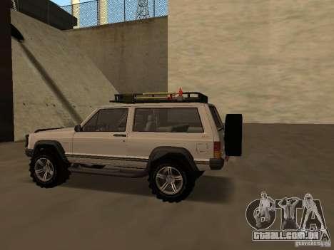 Jeep Cherokee Sport para GTA San Andreas vista direita