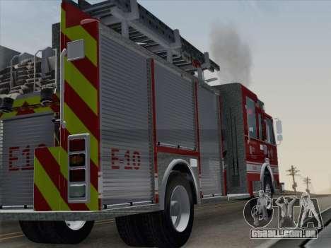 Pierce Saber LAFD Engine 10 para GTA San Andreas vista direita