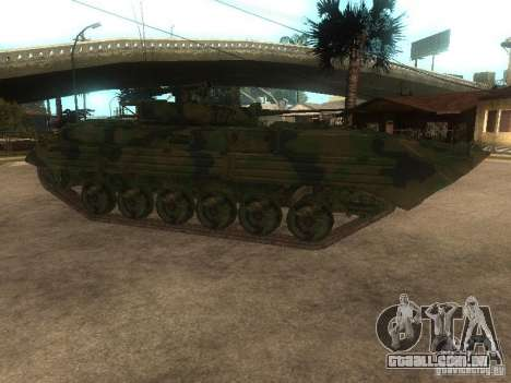 BMP-2 no COD MW2 para GTA San Andreas esquerda vista