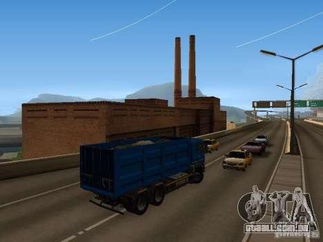 MAN TGA 28 430 PALIFT para GTA San Andreas vista interior