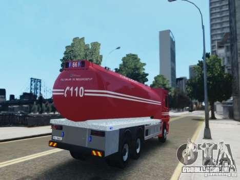 Mercedes-Benz Vanntankbil / Water Tanker para GTA 4 traseira esquerda vista
