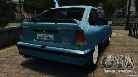 Chevrolet Kadett GSI para GTA 4 traseira esquerda vista