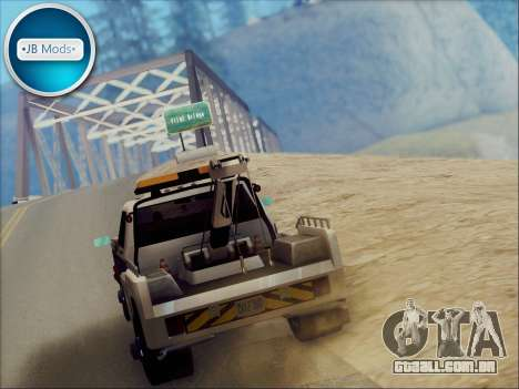 New Towtruck para GTA San Andreas vista direita
