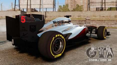 McLaren MP4-28 para GTA 4 vista direita