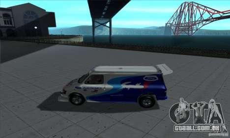 Ford Transit Supervan 3 2004 para GTA San Andreas traseira esquerda vista