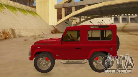 Land Rover Defender para GTA San Andreas esquerda vista