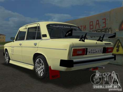 VAZ 2106 Sparco Tuning para GTA Vice City deixou vista