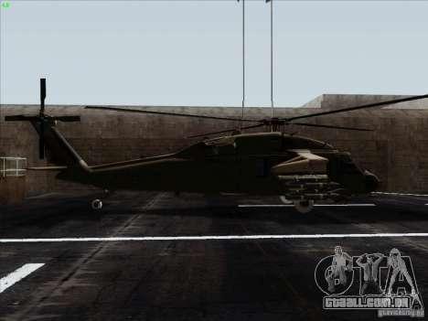 S-70 Battlehawk para GTA San Andreas esquerda vista
