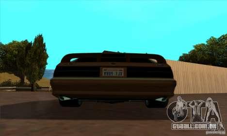 Ford Mustang SVT Cobra 1993 para GTA San Andreas traseira esquerda vista