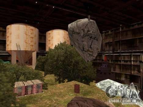 A fábrica abandonada para GTA San Andreas terceira tela
