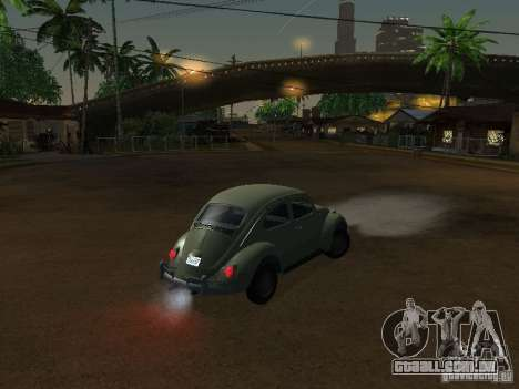 Volkswagen Beetle para GTA San Andreas vista direita