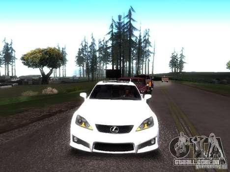 Lexus IS F para GTA San Andreas traseira esquerda vista