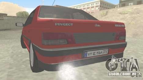 Peugeot RD 1600i para GTA San Andreas traseira esquerda vista