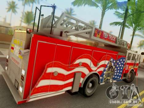 Seagrave FDNY Ladder 10 para GTA San Andreas vista direita