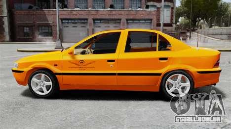 Iran Khodro Samand LX Taxi para GTA 4 esquerda vista