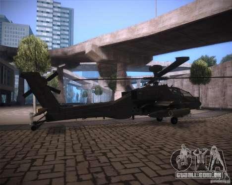 AH-64D Longbow Apache para GTA San Andreas vista traseira