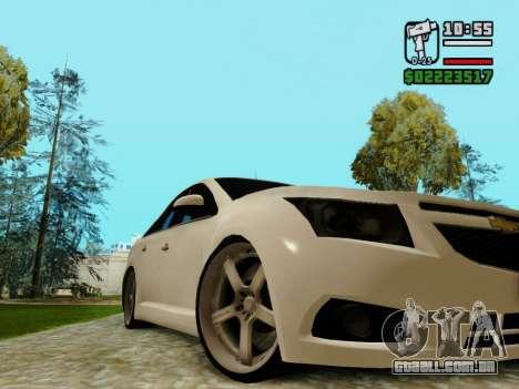 Chevrolet Cruze para GTA San Andreas vista interior