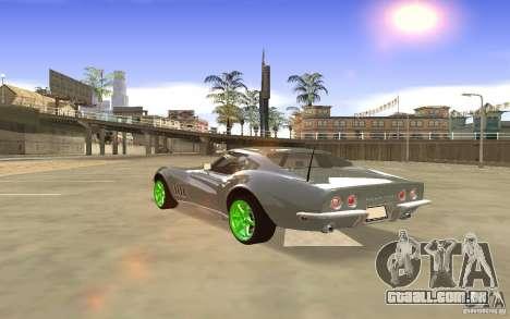 Chevrolet Corvette Stingray Monster Energy para GTA San Andreas vista interior