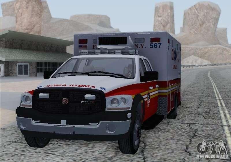 Dodge Ram Ambulance Para Gta San Andreas