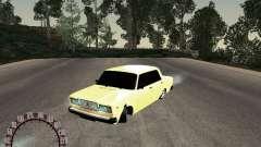 VAZ 2107 ouro para GTA San Andreas
