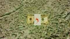 Estados Unidos notas, em denominações de $ 10 para GTA 4
