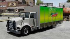 O novo anúncio para o caminhão de Benson