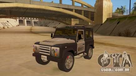 Land Rover Defender Sheriff para GTA San Andreas