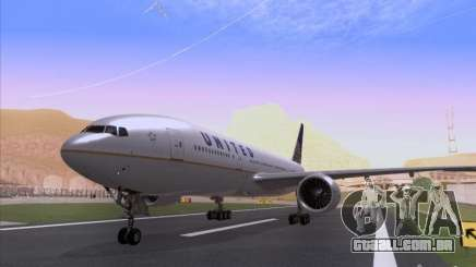 Boeing 777-200 United Airlines para GTA San Andreas