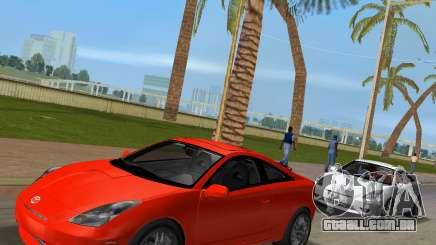 Toyota Celica 2JZ-GTE preto Revel para GTA Vice City
