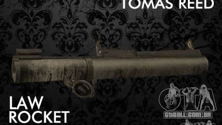 LAW Rocket Launcher Retextured para GTA San Andreas