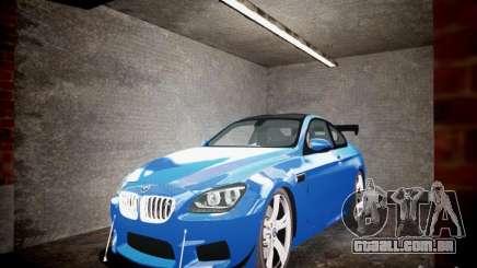 BMW M6 2013 turquesa para GTA 4