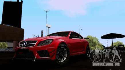 Mercedes-Benz C63 AMG 2012 Black Series para GTA San Andreas