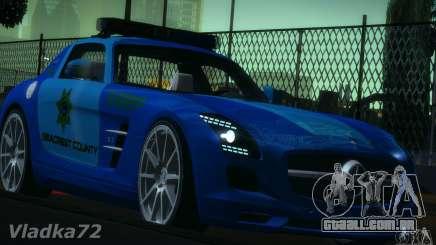 Mercedes-Benz SLS AMG Blue SCPD para GTA San Andreas