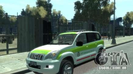 Toyota Land Cruiser Prado Police para GTA 4