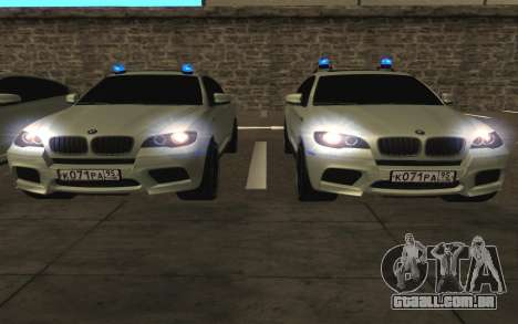 BMW X6 M com piscar luzes PPP para GTA San Andreas vista superior