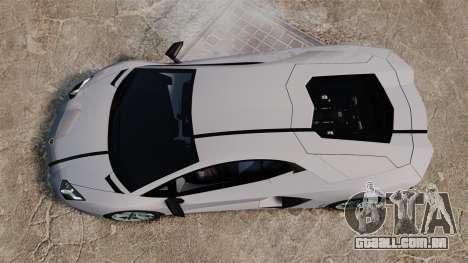 Lamborghini Aventador LP700-4 2012 EPM para GTA 4 vista de volta