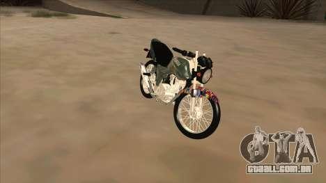 Yamaha YBR para GTA San Andreas